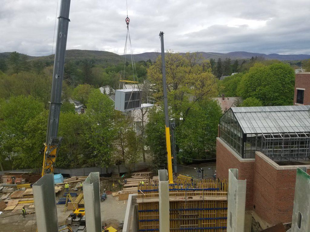 Crane hoisting AHU