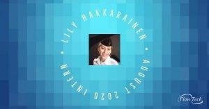 Lily Hakkarainen Flow Tech August 2020 Intern