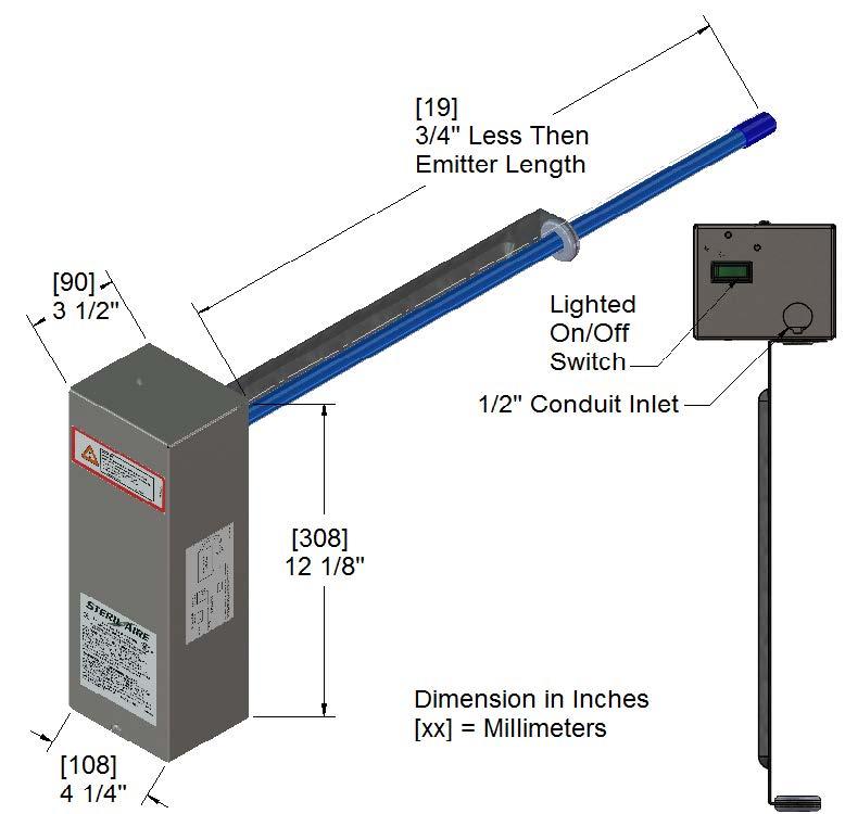 diagram of UVC light configuration